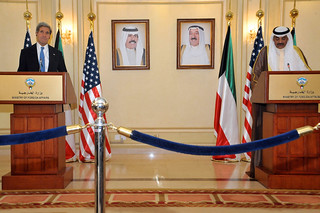Secretary Kerry and Kuwaiti Deputy Prime Minister and Foreign Minister Sheikh Sabah Al-Khalid Hamad Al-Sabah Address Reporters