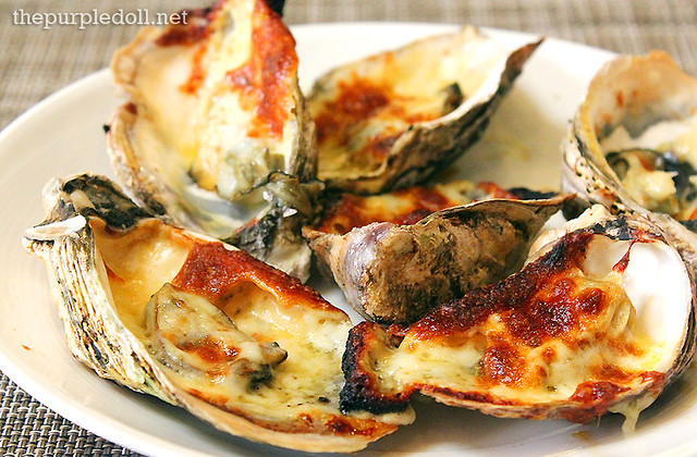 Baked Oysters with Cheese at Spiral Sofitel