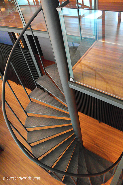 quayside hotel spiral stairs