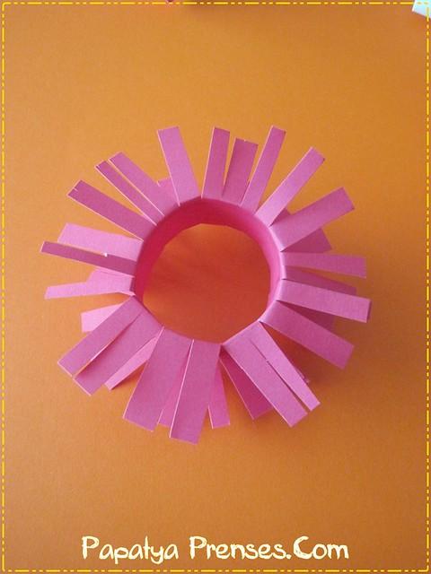 kartondan çiçekler 011