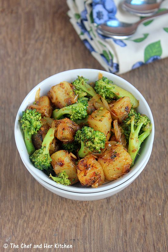 aloo broccoli sabzi