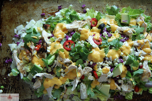 Asian Chicken Chop Salad with Mango Dressing