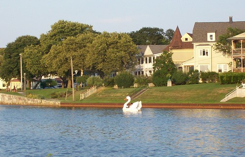 ocean grove houses with swan boat