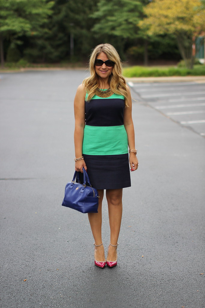 Colorblocked Dress Outfit