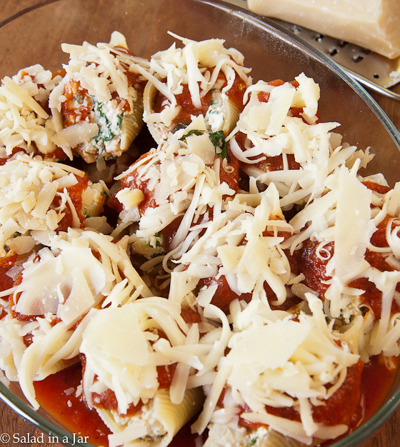 Spinach Mushroom Stuffed Shells - ready-to-bake
