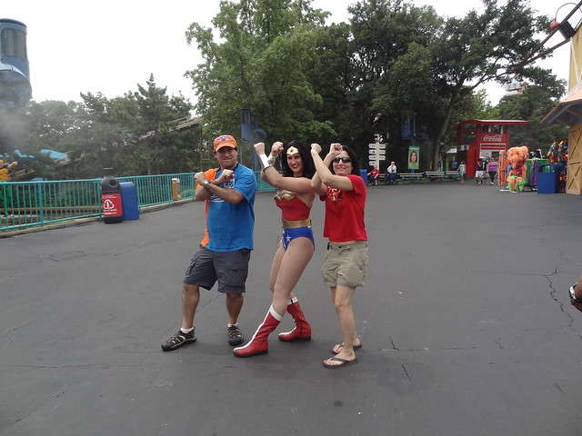 Wonder Woman at Six Flags Over Texas