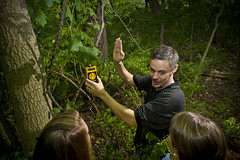 Dr Tom Rooney and his students in the woods 8-21-12