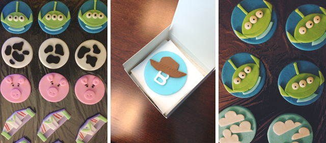 Toy Story, Toy Story 2, Toy Story 3 Cupcake Toppers