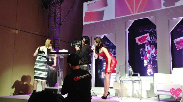 Anne Curtis Smith Avon with Lauren Andersen Celebrity Makeup Artist