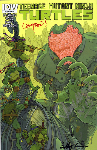 "IDW :: TEENAGE MUTANT NINJA TURTLES #20; COVER RI - ""KRANG MECH"" art by Langdon Foss (( 2013 ))"