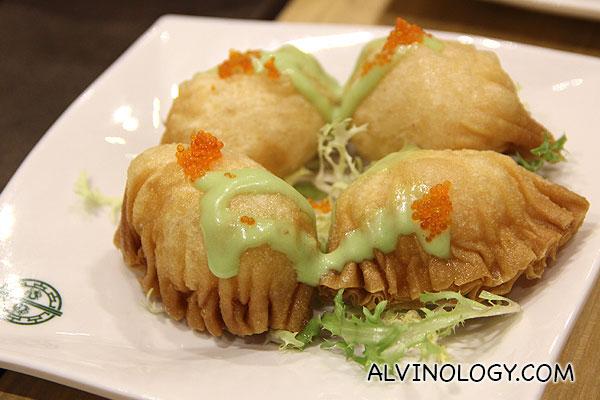 Wasabi Salad Prawn Dumpling (S$5)