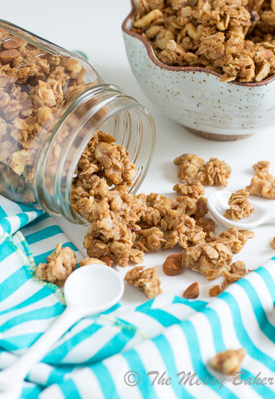 Cookie Butter Cinnamon Chip Granola | www.themessybakerblog.com-8400