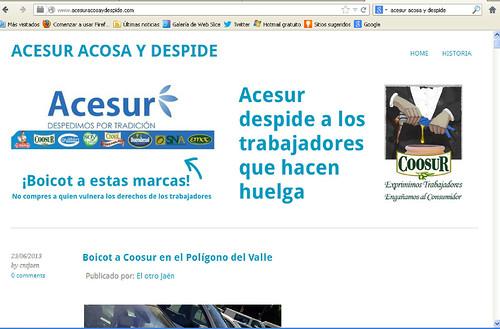 Blog contra la empresa represora Coosur/Acesur