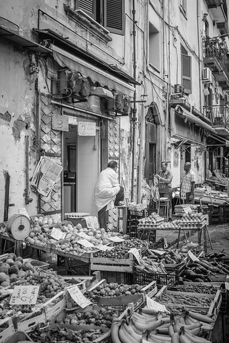Naples markets #1 - B&W by Davide Restivo