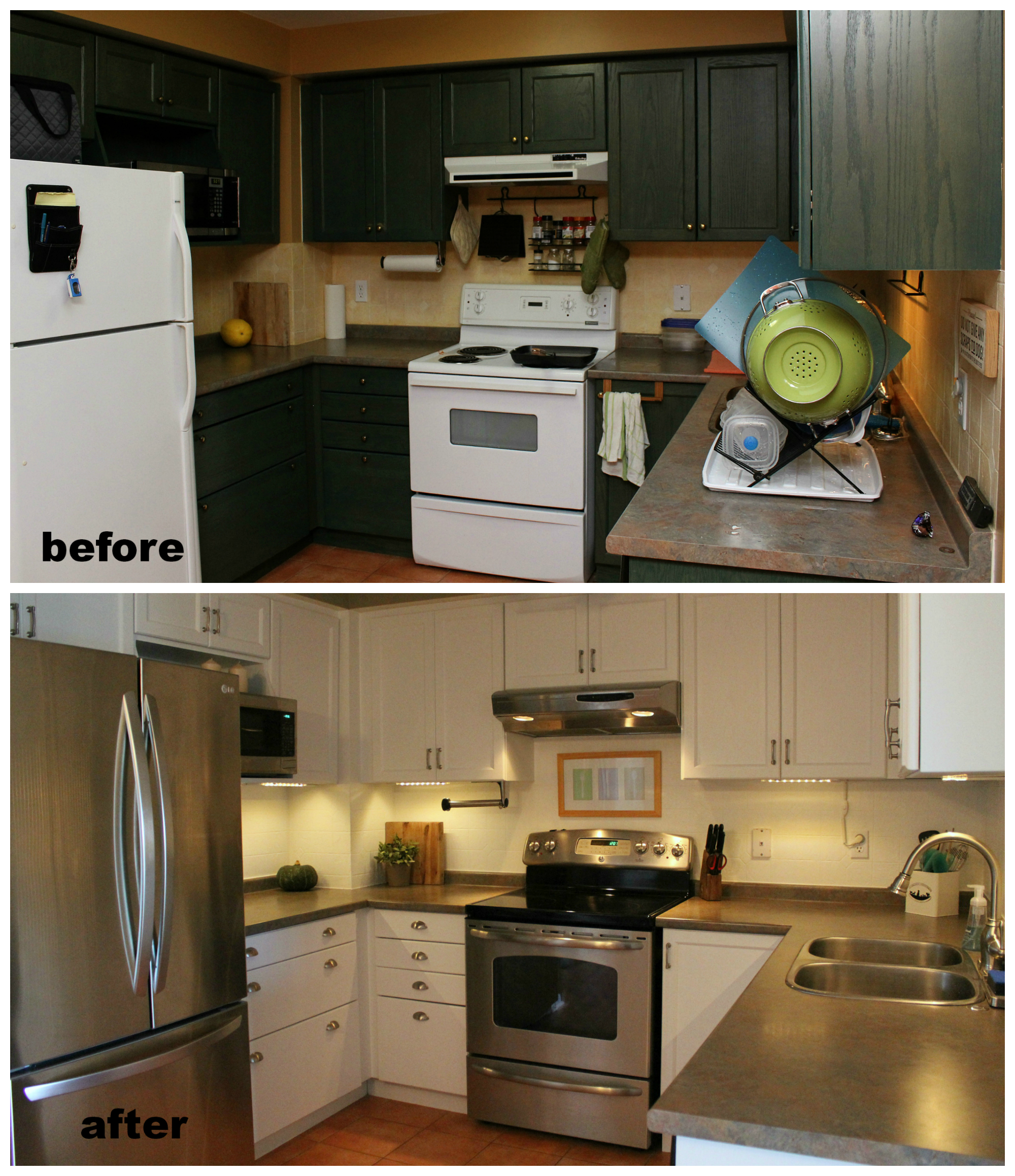 kitchen makeover before and after