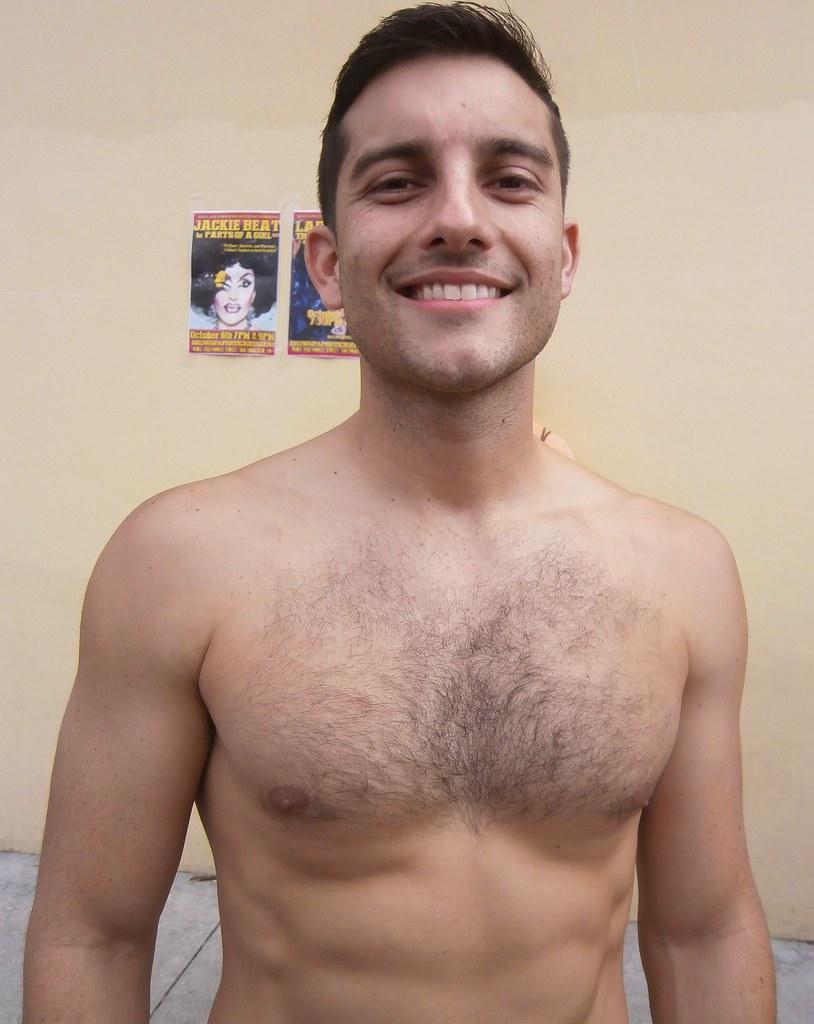 FOLSOM STREET FAIR 2013 ! CUTE HAIRY HUNK GREAT SMILE (safe photo)