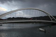 arch, tied-arch bridge, landmark, reflection, overpass, arch bridge, bridge, cable-stayed bridge,