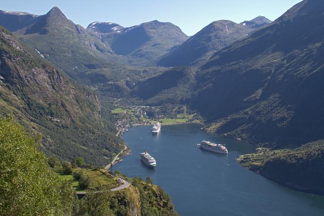 Geirangerfjord (Noorwegen) - Hurtigruten met de MS Lofoten, aug. 2013