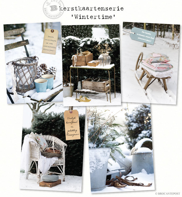 Kerstkaartenserie Wintertime - Brocantepost
