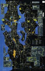 Seattle Metro bus system map (1983)