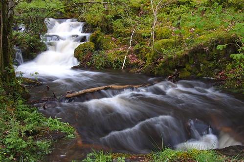 湖水地方 ハイ・ダム 滝 水流 自然 英国 イギリス