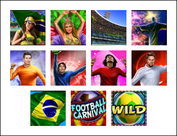 free Football Carnival slot game symbols