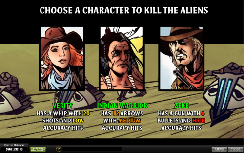free Cowboys and Aliens slot bonus feature