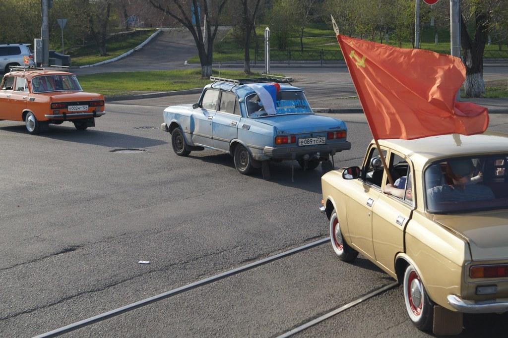 Москвич 2140 на автопробеге в Красноярске