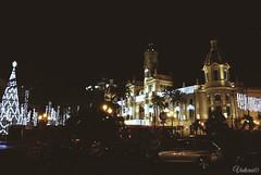 Plaça de l'Ajuntament. Ajuntament de Valencia. Spain