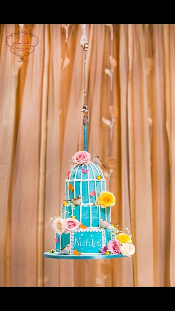 Vintage Hanging Bird-Cage Cake by Kruti Delivala of Sweet Tooth