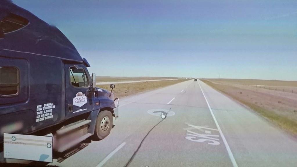 Such a big truck in the corner of my eye. #CanadaCartage #ridingthroughwalls #saskatchewan