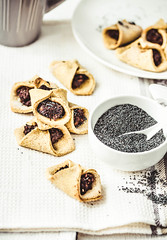 corn cookies with paste from poppy seeds and dried…