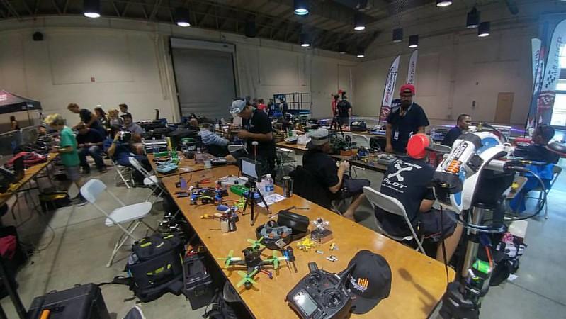 In the pits - FPV drone racing at #SoCalMakerCon #multirotors #multiGP #spaceoneFPV