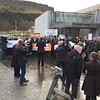 Good crowd of @38_degrees and #OurLand campaigners with MSPs and media at the Scottish Parliament