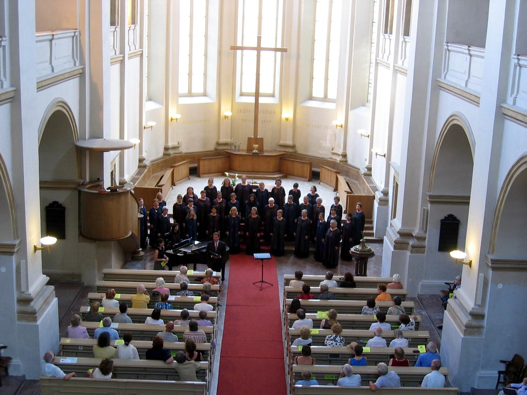 Peninsula Women's Chorus performs in St. Saviour's Church in Prague, Czech Republic