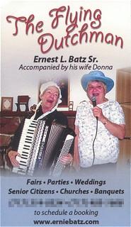 Ernie Batz biz card