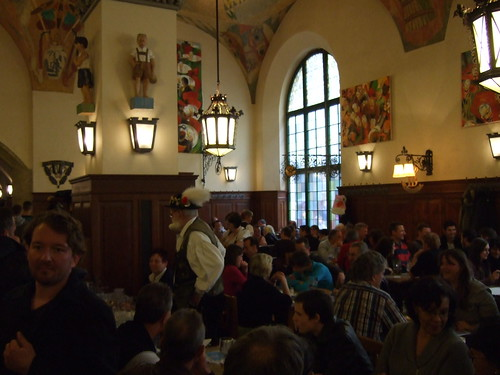 Well-Dressed Hofbrau Patrons