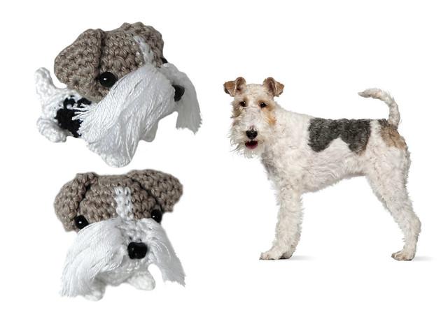 Fox Terrier Amigurumi Patron : Crocheted Wire Fox Terrier Flickr - Photo Sharing!