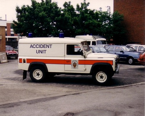 West Midlands Police Landrover Accident Unit