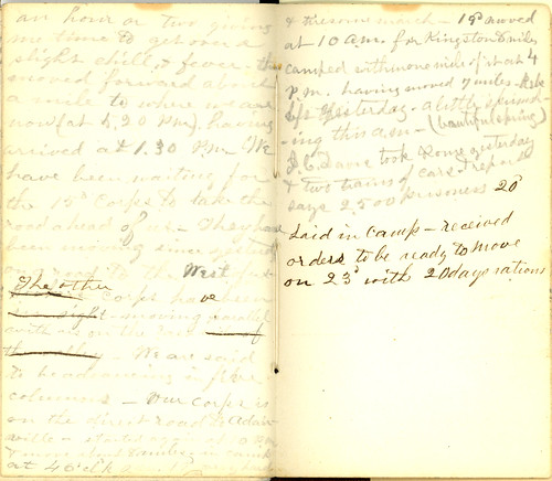 Howard Forrer final diary entries, May 1864