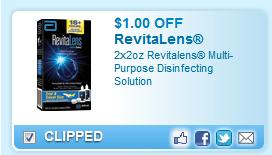 2x2oz Revitalens Multi-purpose Disinfecting Solution  Coupon