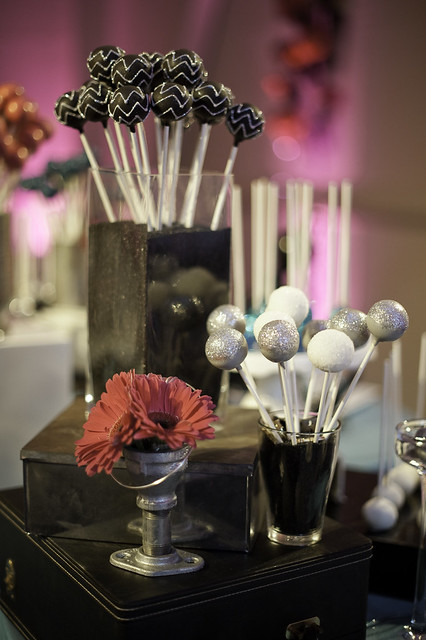 Glittered Chevron Cake Pops