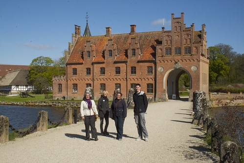 Us in front of Egeskov Slot