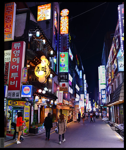 Neon lights in Seoul