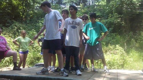 NSLC COMM Students Visit the Ropes Course