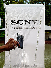 Water resistant Sony Xperia acro S. Don't try this at home.