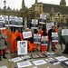 "Andy Worthington joins the ""Free Shaker Aamer"" protest in London, April 2012"