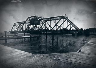 Hojack Bridge, toned cyanotype