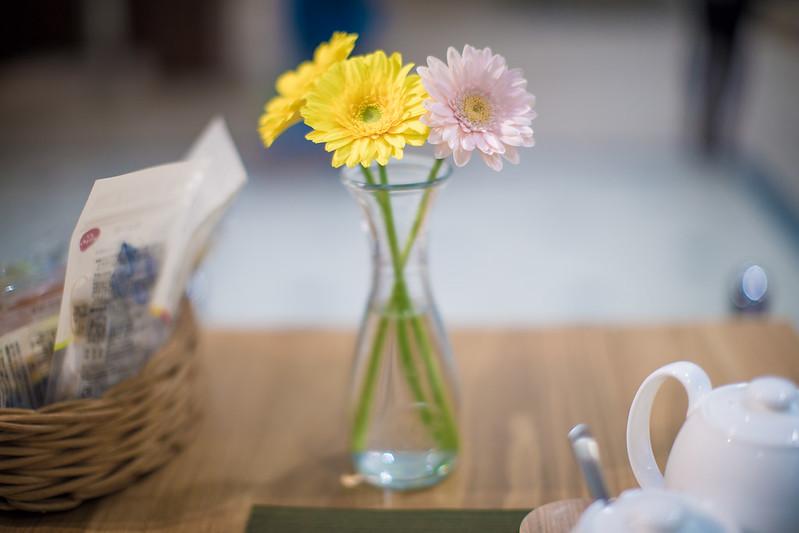 Flower on the desk