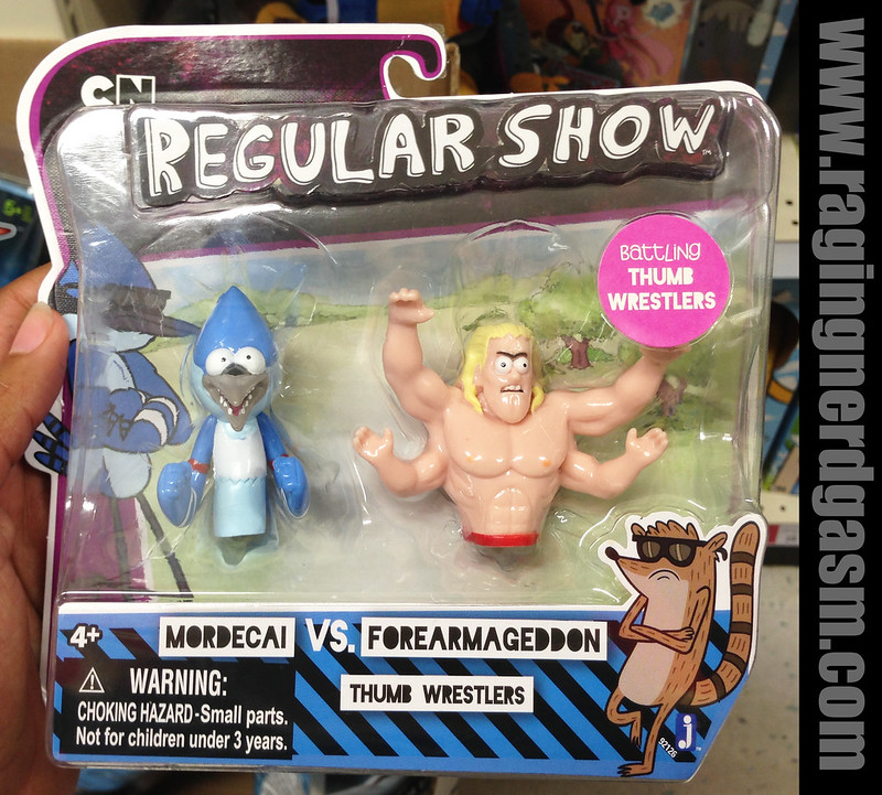 Cartoon Network Regular ShowThumb Wrestlers Modercai and Forearmageddon